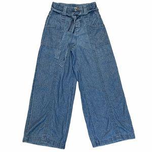 AMERICAN EAGLE High Waisted Wide Bottom Jeans